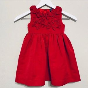 Baby Gap | Cranberry Holiday Bow Formal Dress